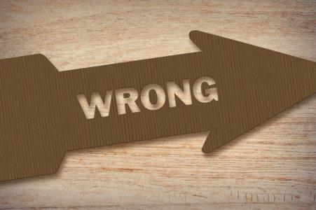 Wrong Arrow Sign