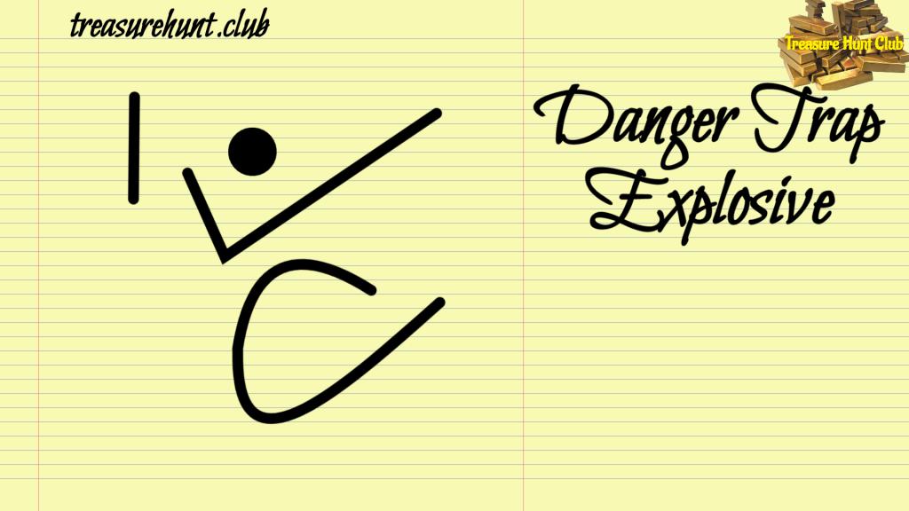 Danger Trap Explosive Sign