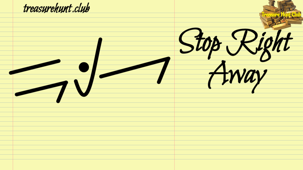 Stop Right Away Sign